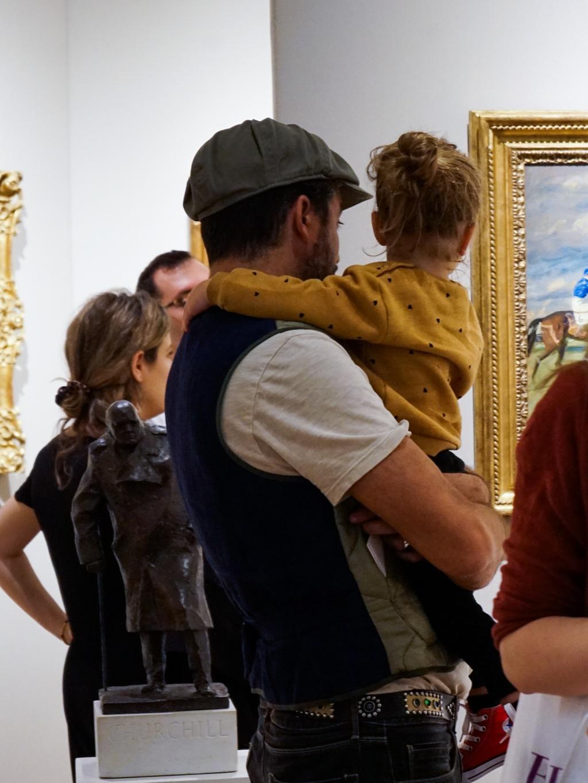 visitors at the art fair