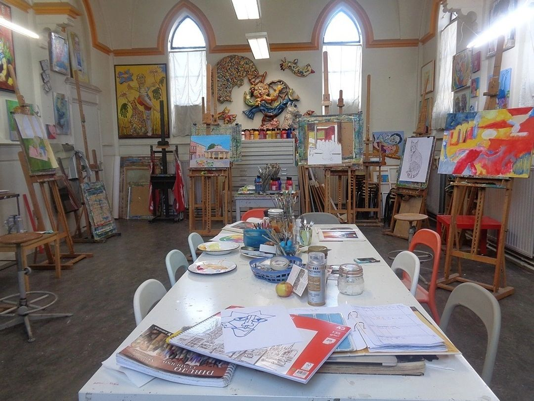 Schilderles op een atelier in de binnenstad van Tilburg