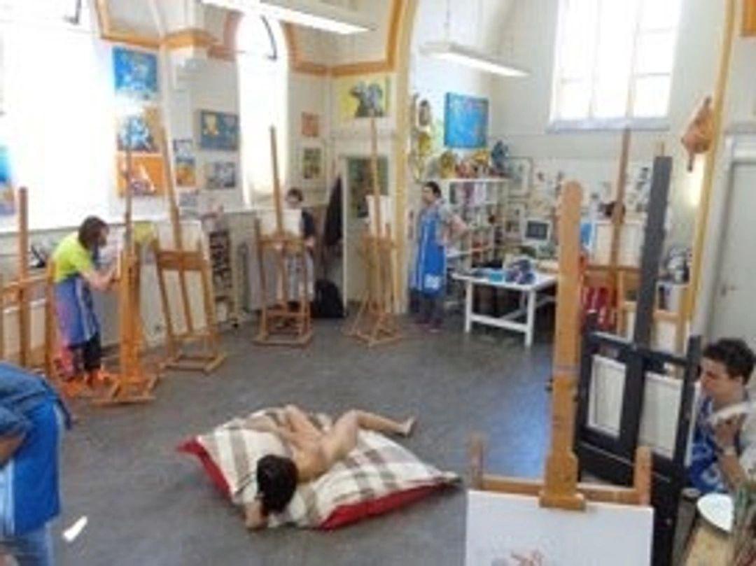 naaktmodel teken en schilder workshop