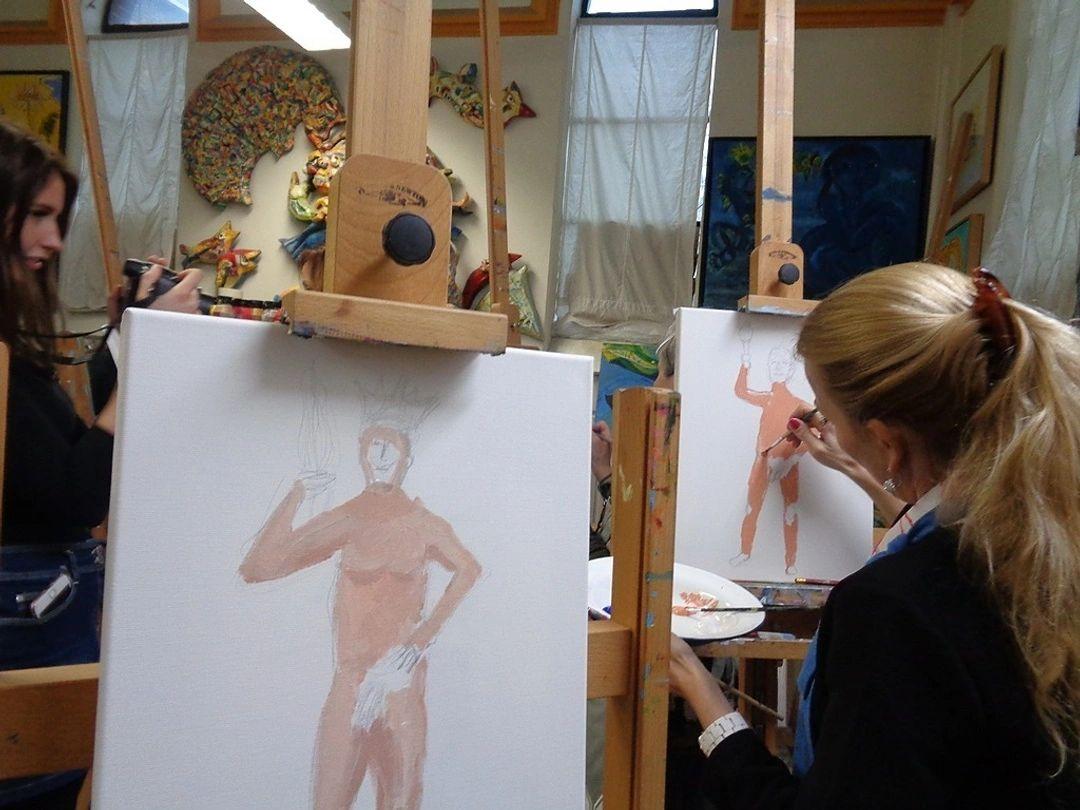 naaktmodel teken en schilder workshop in Tilburg