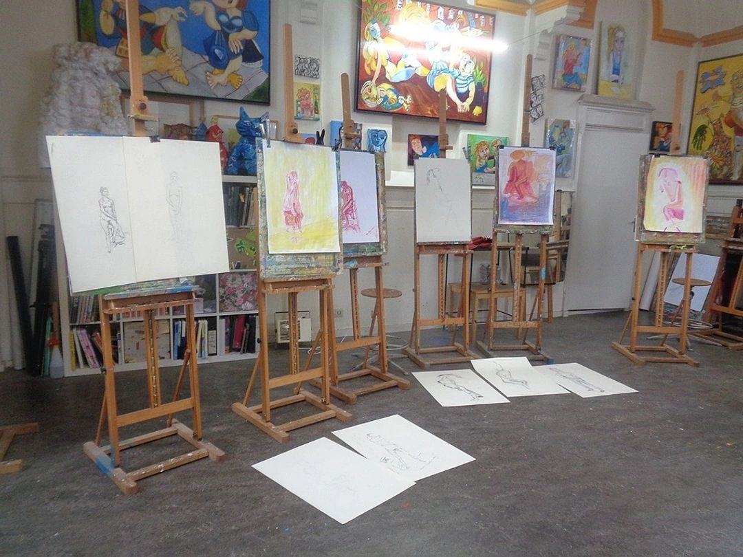 naaktmodel teken en schilderworkshop  individuele deelnemers