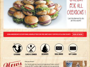 Home Page Design for a Restaurant & Snacks Store