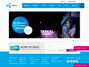 Telenor India -Customer Mobile recharge Plateform