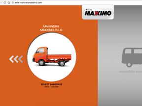 Mahindra Maxximo Website