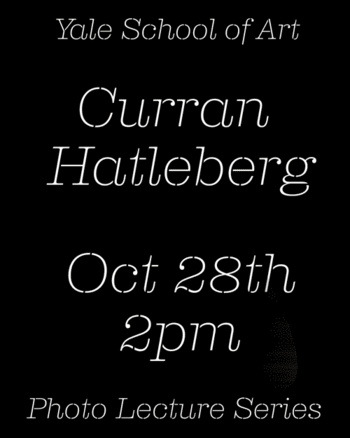 Poster for Curran Hatleberg's VA lecture in photography.