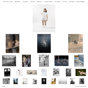 "Screenshot of ""Hindsight,"" a website presenting work by 2020 MFA Photo graduates."