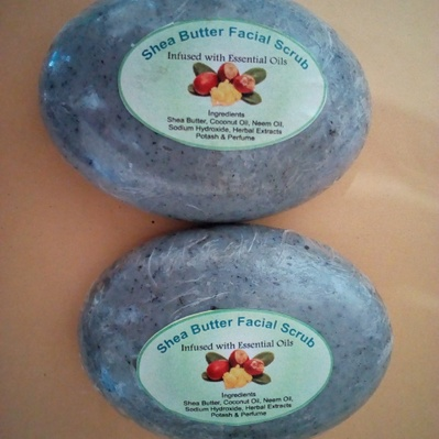 Sheabutter Facial scrub soap- 120 grams