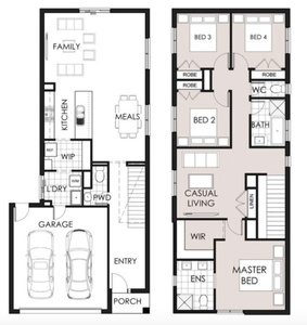 double storey home on small block