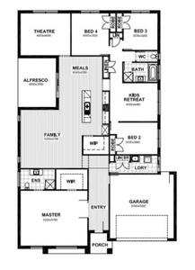 Single storey design with kids area