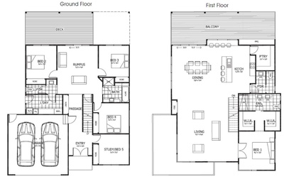 upstairs living plan