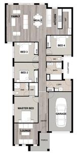 single storey design for small block
