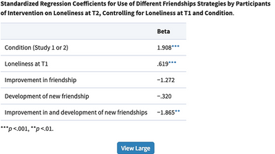 Meeting the Need to Belong: Predicting Effects of a Friendship Enrichment Program for Older Women