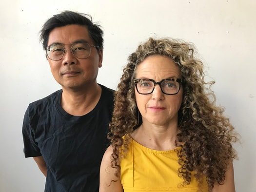 The new co-directors of the Yale Norfolk School of Art: Byron Kim on the left and Lisa Sigal on the right.