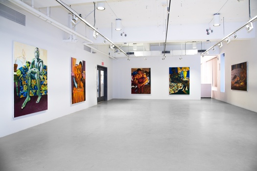Jordan Casteel's work installed within the Yale School of Art's Green Hall Gallery in 2014