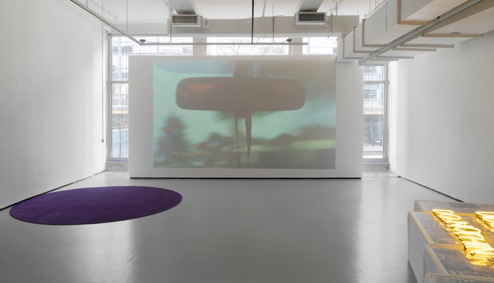 Installation view of To Hear No Echo, Yale School of Art Sculpture MFA thesis exhibition.