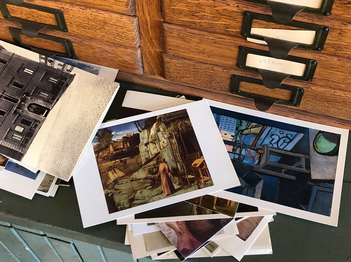 A still image of painter and professor William Bailey's studio workspace.