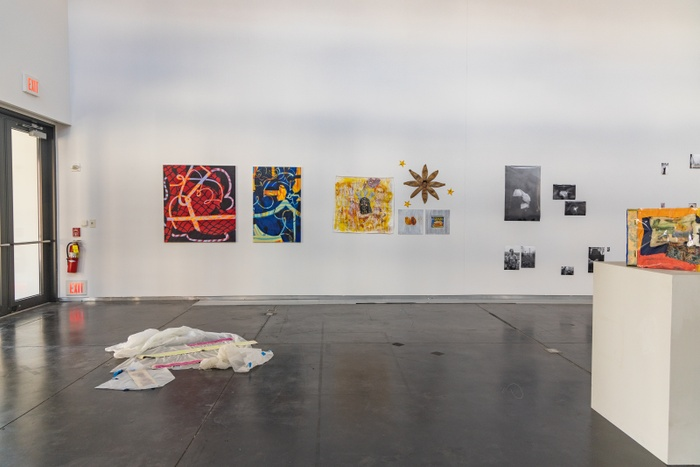 """Installation documentation of """"Unfinished,"""" the undergraduate class of 2020's thesis exhibition."""