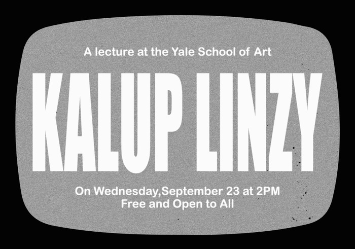 Poster for Kalup Linzy's public talk on Sept. 23 at 2pm