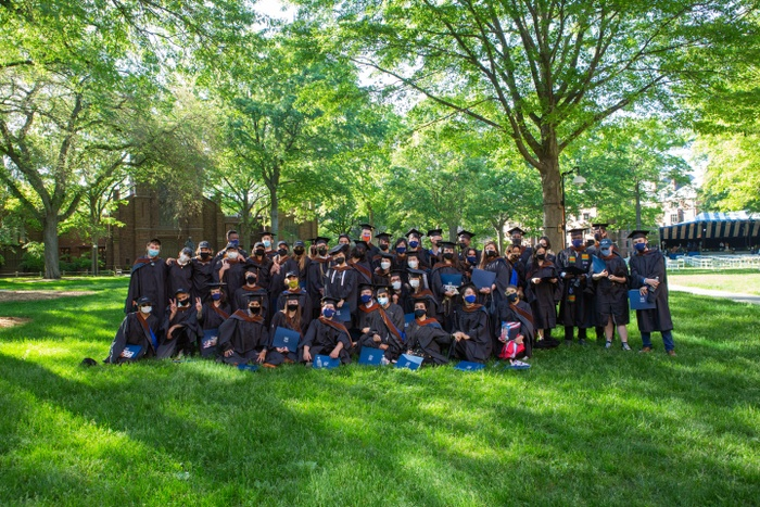 Documentation of the 2021 Yale School of Art commencement ceremony on Old Campus.