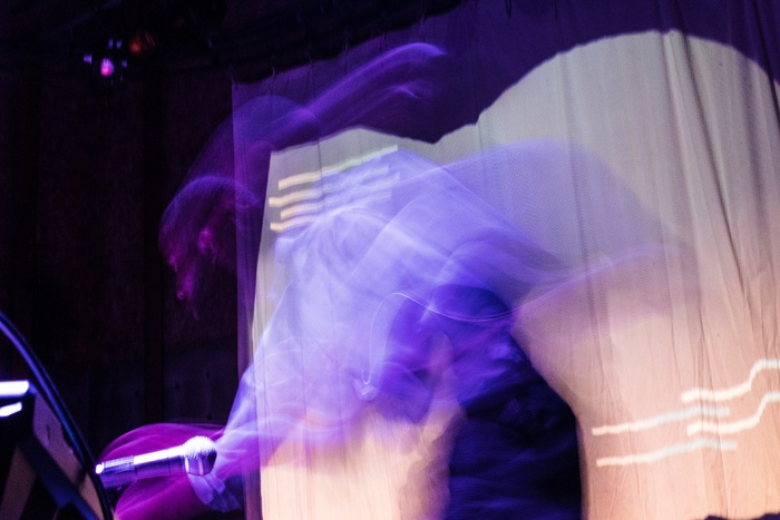 Artwork image of a performance by Jerome Ellis.