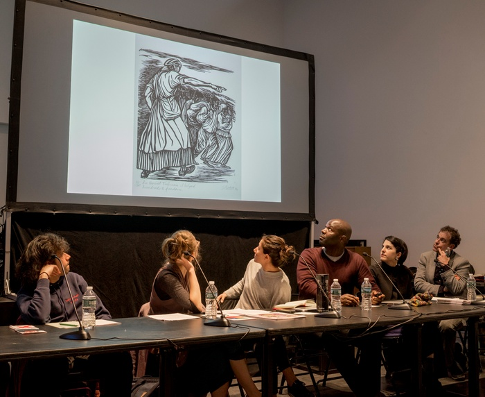 This is a still photo of the Yale School of Art / Yale Prison Education Initiative Partnership Panel, which took place on September 24, 2018.