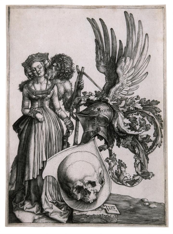 Dürer, Coat of Arms with a Skull, Unframed, High Res.jpg
