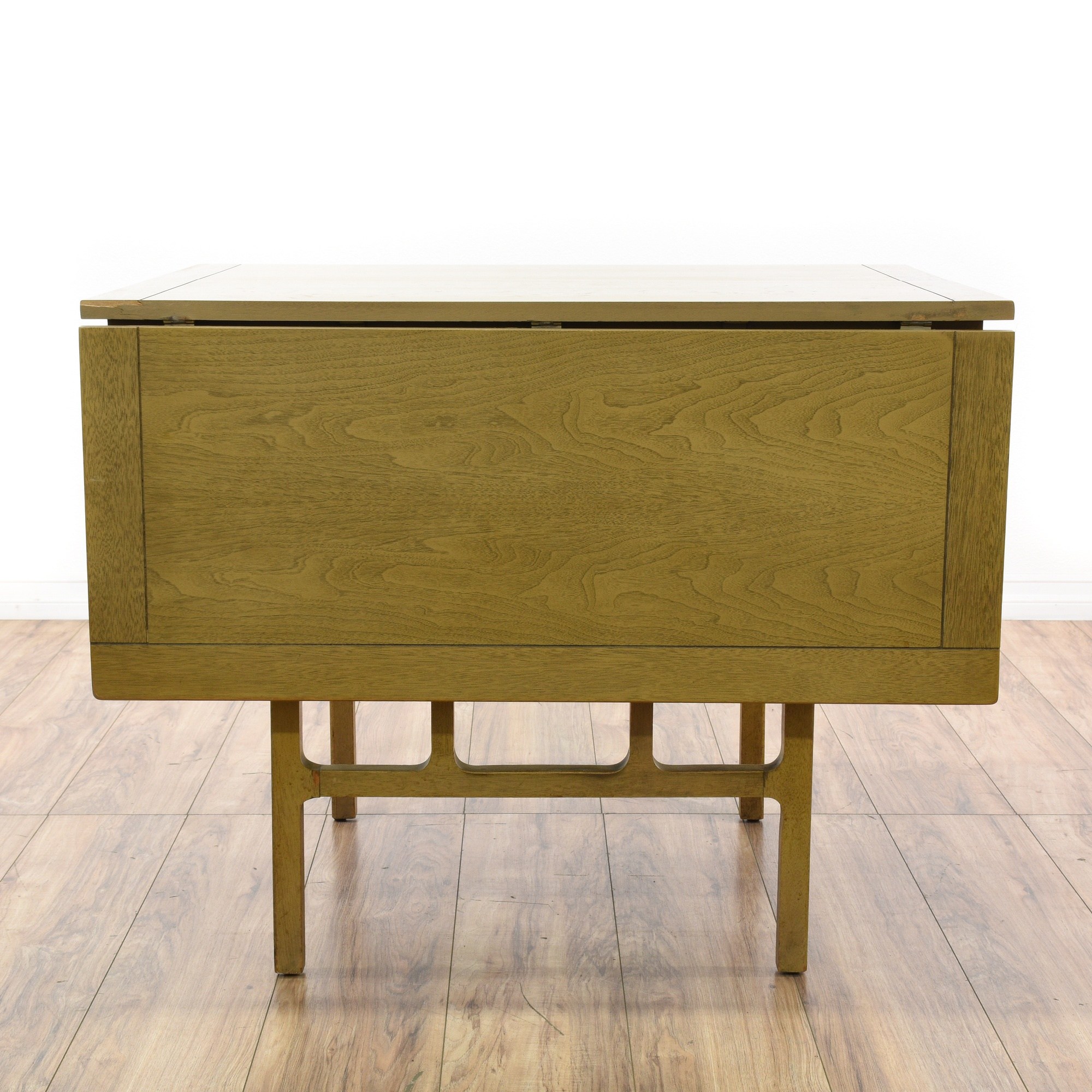 Mid Century Modern Green Drop Leaf Dining Table Loveseat