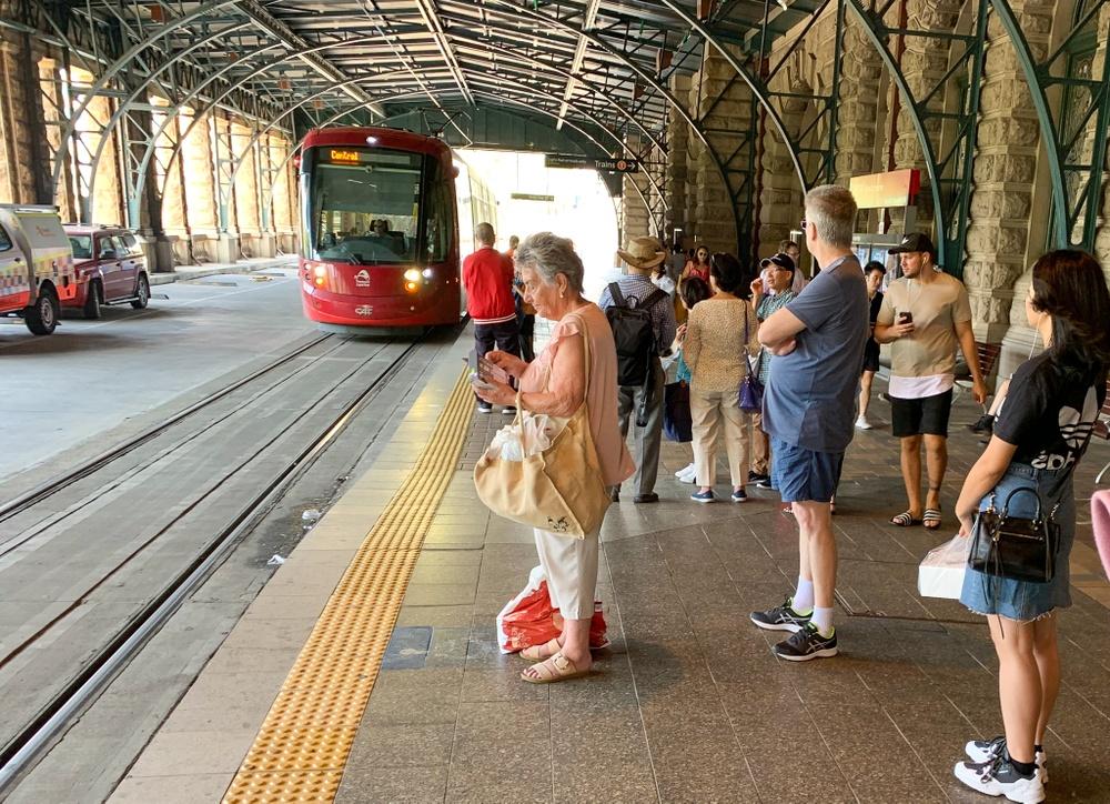 Linje 1 har sin ändhållplats vid centralstationen.