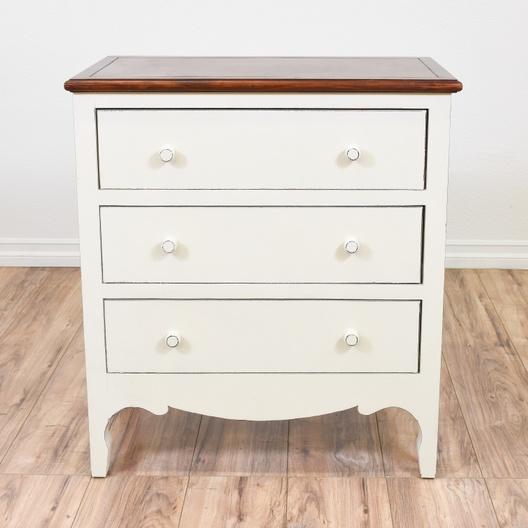 White Wood Top 3 Drawer Dresser Loveseat San Go