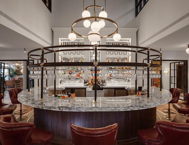 The restaurant bar at the Tamburlaine hotel, Cambridge
