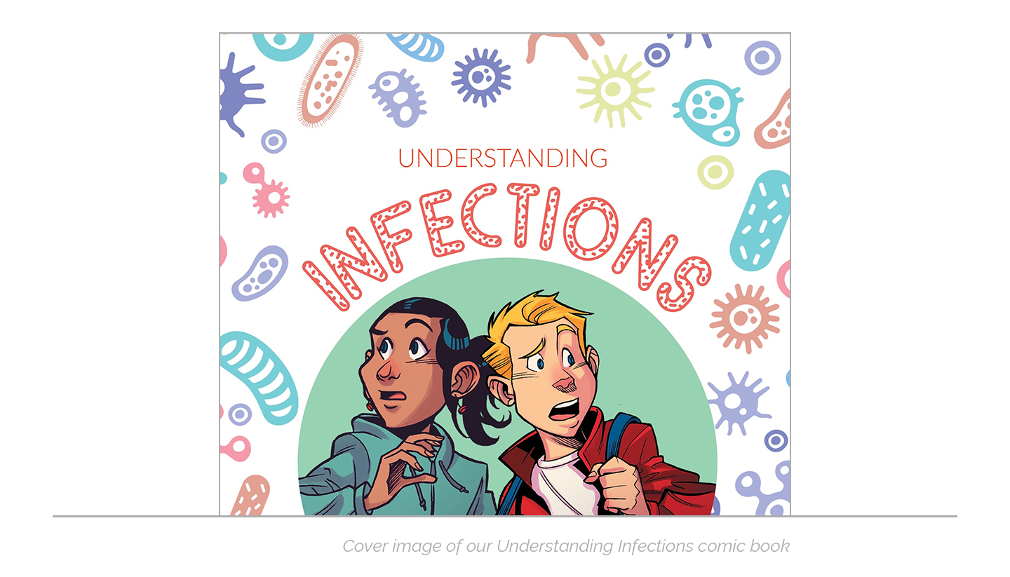 understanding infections comic book cover