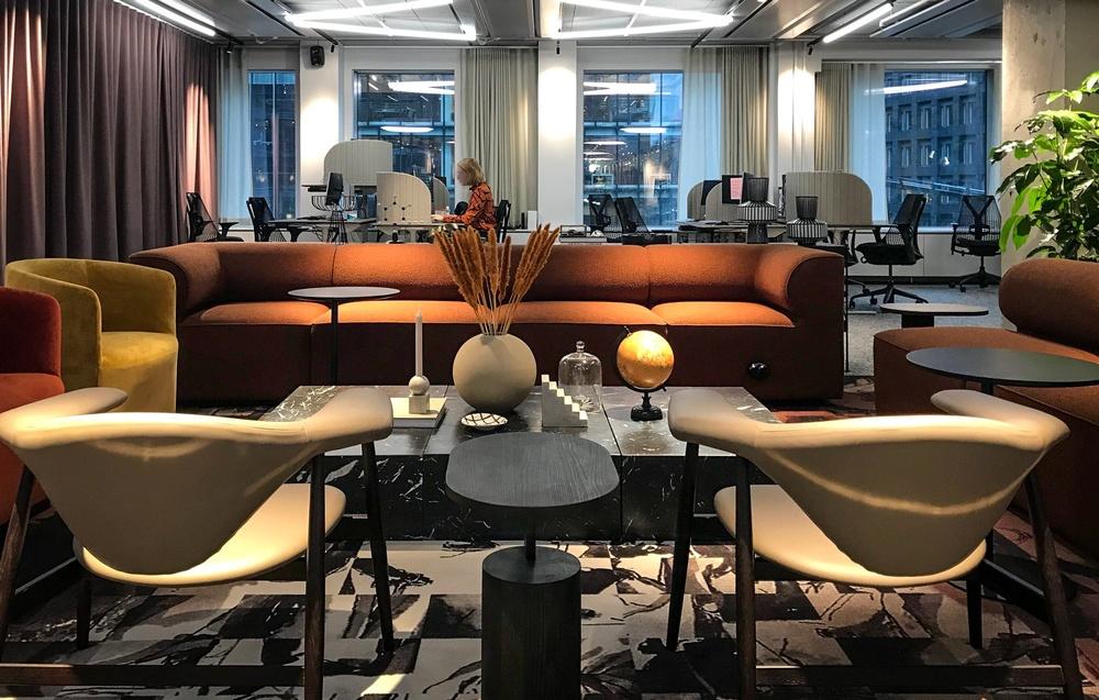 Bild från Vasakronans nya huvudkontor i Sergelhuset, Stockholm. Skapat av Kanozi Inredning & Design. Foto: Kanozi Arkitekter.