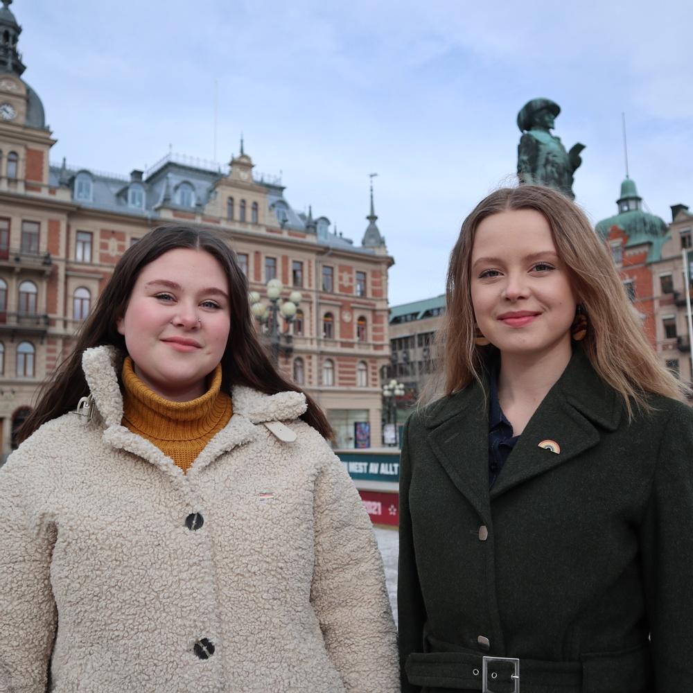 Tilda Tromö och Alva Danielsson, redaktörer för Ekoguiden Sundsvall.