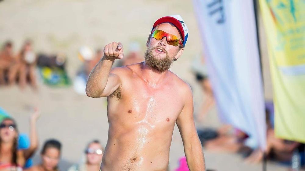 Linus Frantzich / Martin Johansson vann årets första Swedish Beach Tour på Rådhustorget i Umeå. Foto: Robert Boman