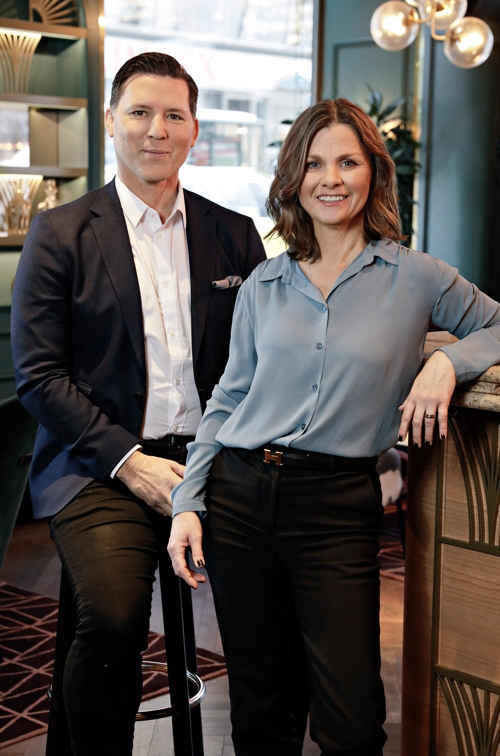 Marcus Murray, grundare och Anna Averud, CEO Truesec Group