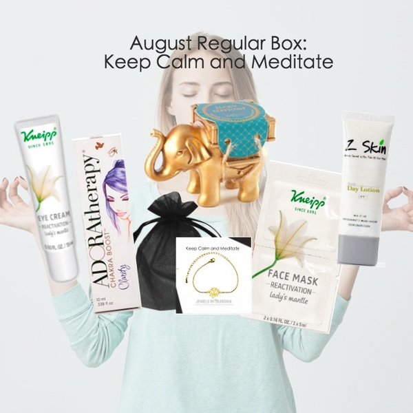 August 2018 - Keep Calm and Meditate Themed Box