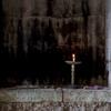 Tomb of Nahum, Interior, Altar, Memorial Candle [1] (al-Qosh, Iraq, 2012)