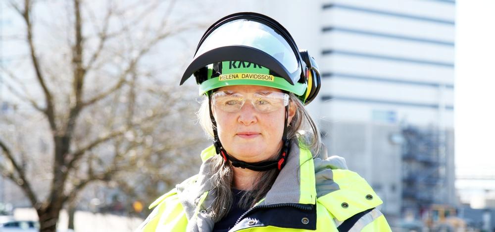 Helena Davidsson är säkerhetschef på Skoghalls bruk och en av de drivande krafterna i Säkerhetsnätverket. Foto: Stora Enso.