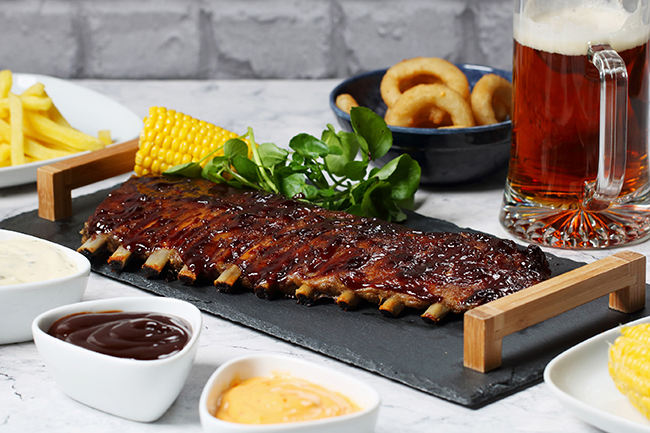 Lion Foods' barbecue ribs