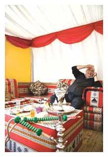 Shisha tent at the Royal Lancaster