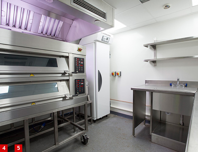Mono Equip two-deck bakery oven and retarder/prover at Lympstone Manor
