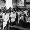 Class in session, Laura Kadoorie Alliance Israelite Universelle, School, Baghdad, Iraq. Photo courtesy Alliance I.U. Archives.