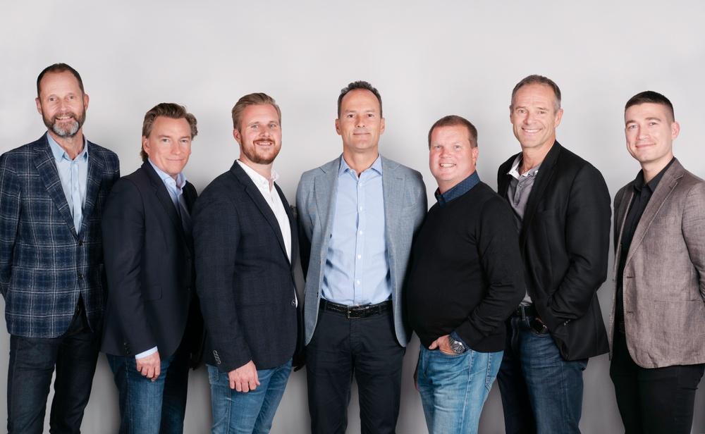 Migränhjälpens styrelse: Ulf Berlin, Johan Nyberg, Johannes Engh, Mattias Bodin, Mats Siljehult, Johan Blom och Alexander Knezevic.