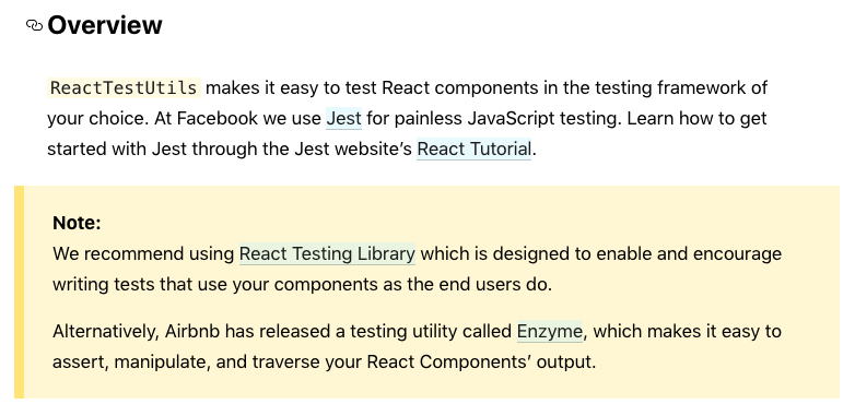 screenshot from React docs
