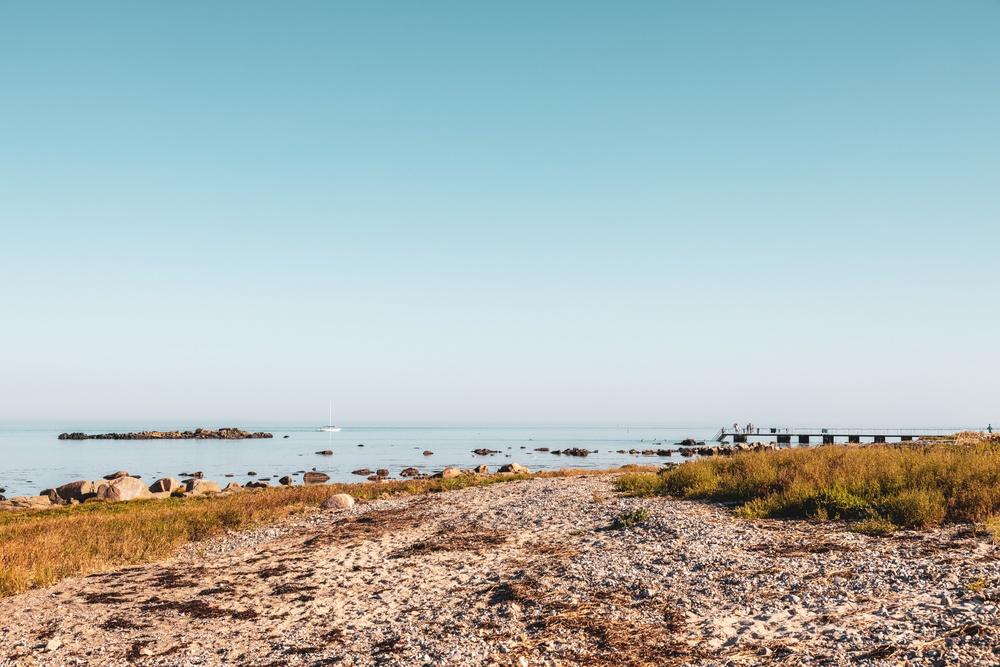 Badare vid brygga. Foto: Anders Karolyi