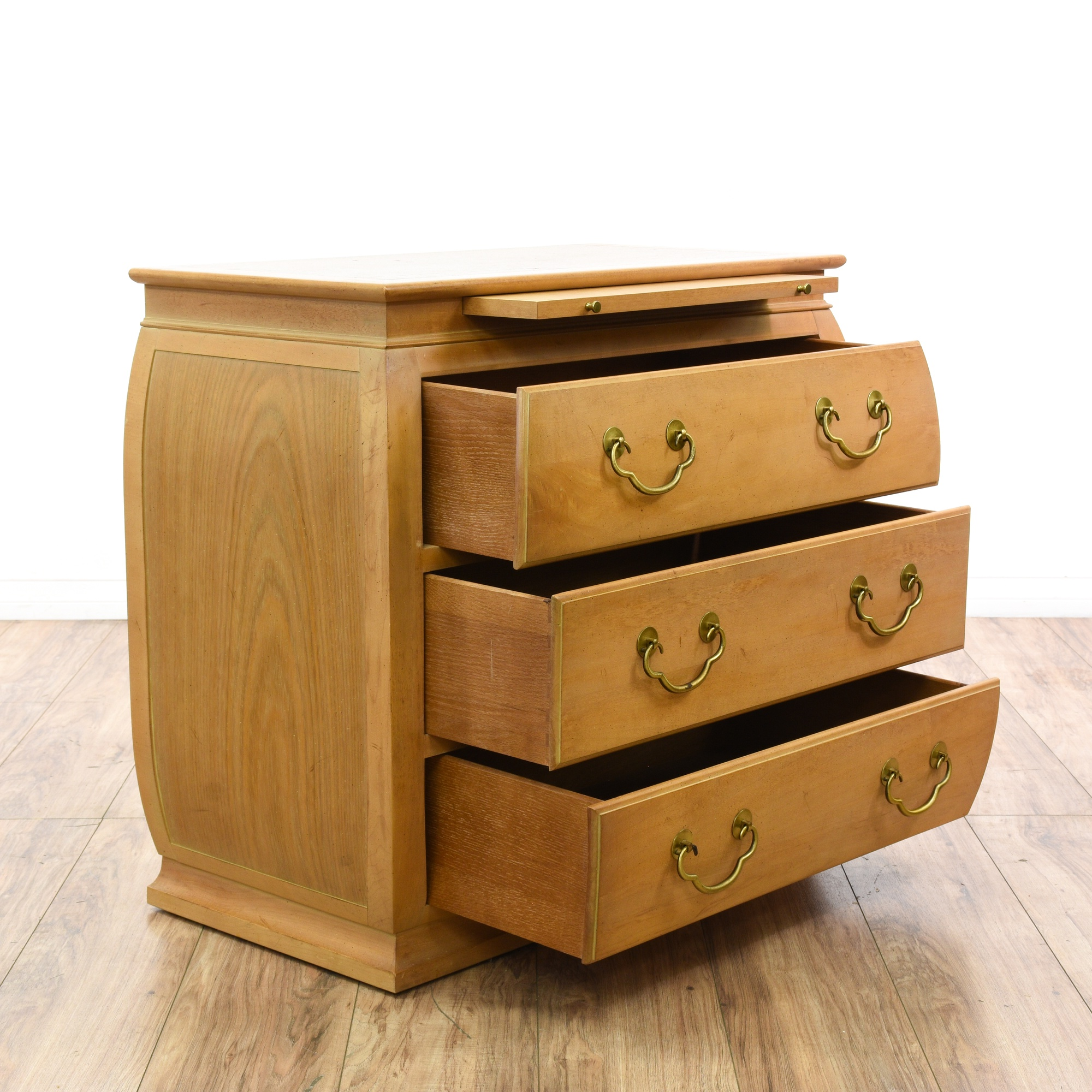 Quot Hekman Quot Light Wood Chest Of Drawers Loveseat Vintage