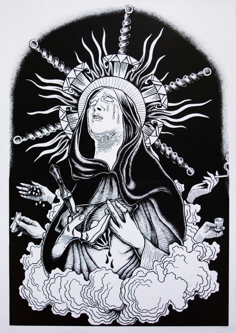 Illustration: Stefania Monni, tatuerare i Barcelona