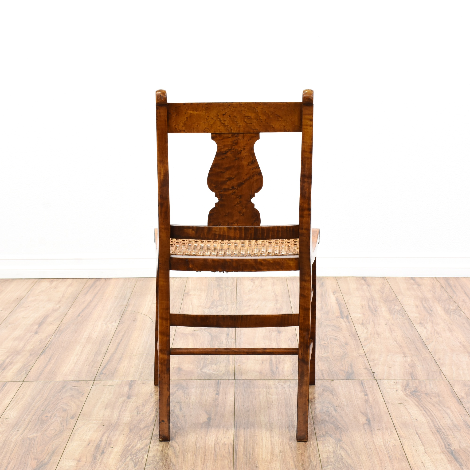 Antique Duncan Phyfe Flame Mahogany Chair