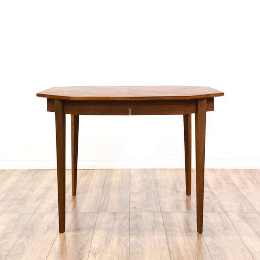 Mid Century Modern Octagon Dining Table w/ Leaves