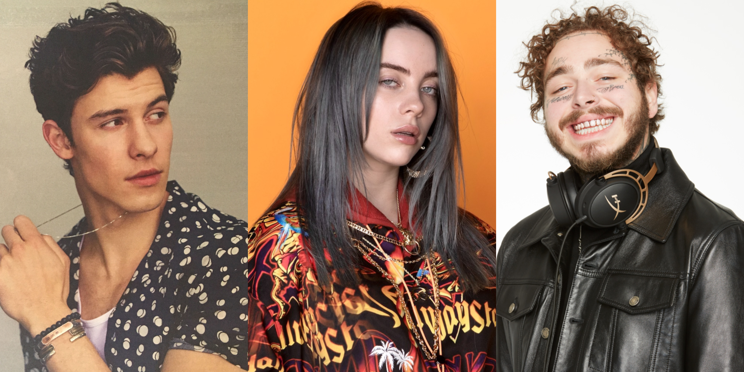 Billie Eilish, Post Malone and Shawn Mendes are among the most-streamed artists on Spotify in 2019